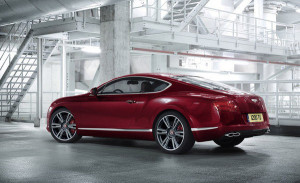 bentley-continental pohled z boku
