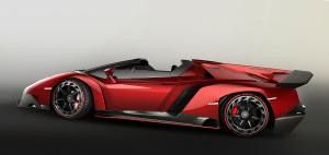 Lamborghini Veneno Roadster pohled z boku